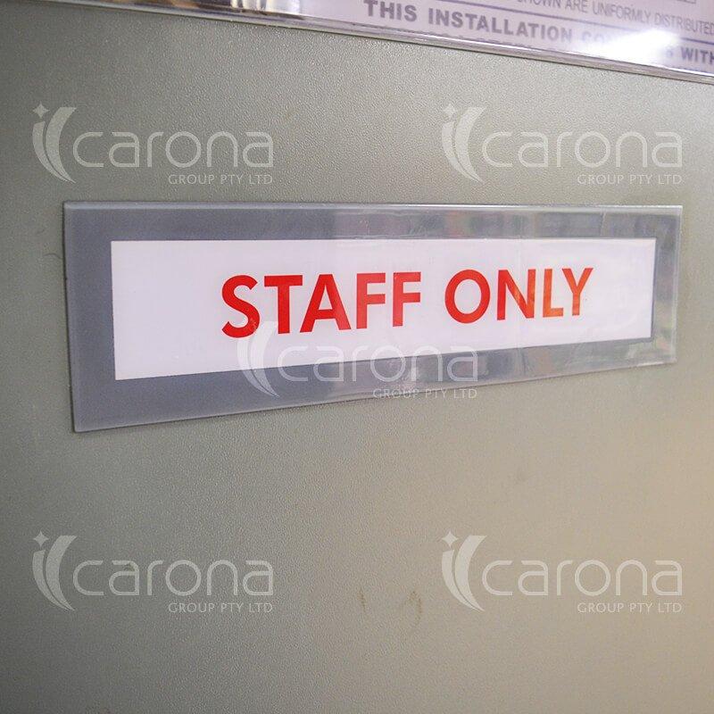 Industrial Door Signage   Carona Group